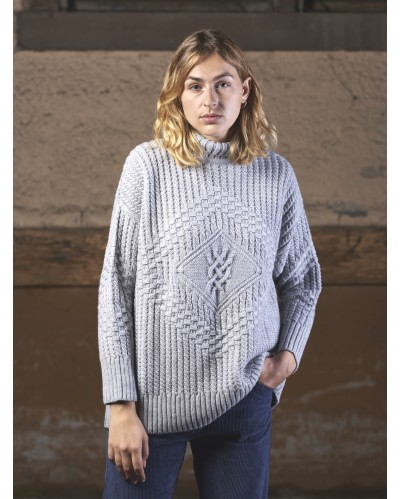 PULL CARRICK Gris Clair