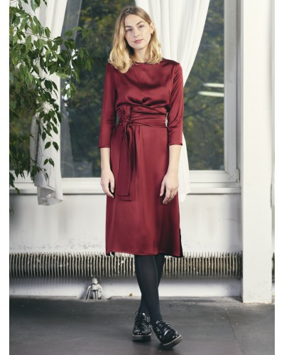 ROBE PENSEE Bordeaux