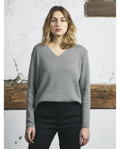PULL BADEN Gris Chiné