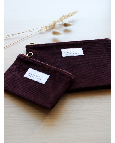 POCHETTE MF Velours Prune