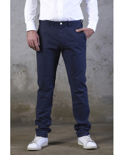 CHINO CLERMONT Twill Bleu Nuit