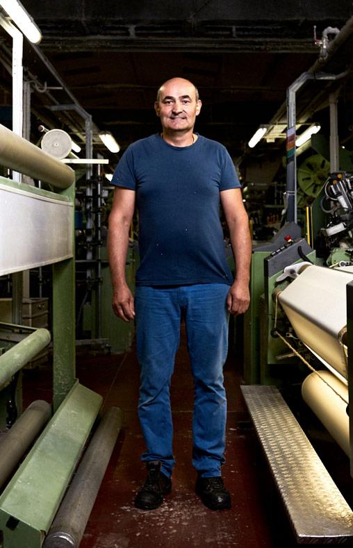 Noel responsable fabrication tissage chez Emanuel Lang, Entreprise textile basée en Alsace