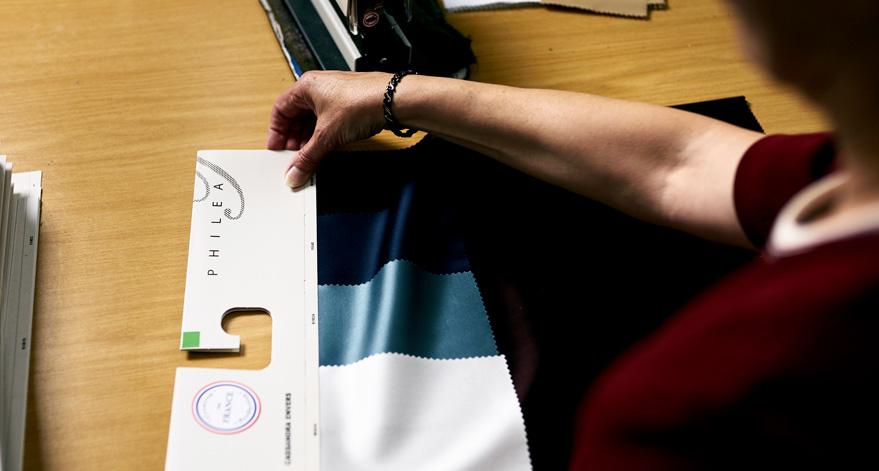 Philea Textiles, Des tissus unis visuellement aussi riches que les imprimés fabriqués en France