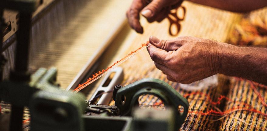 Tissage des Chaumes, entreprise spécialisée dans la création de tweeds haut de gamme